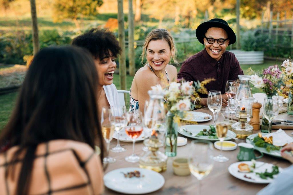 Canva Group Of Friends Enjoying Outdoor Party