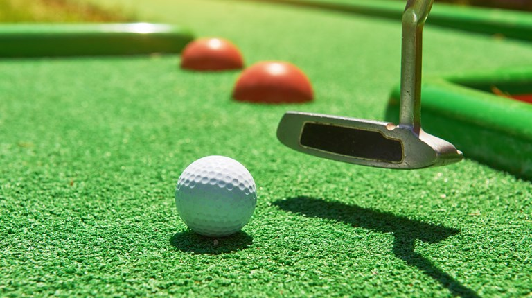 Sport and leisure, Minigolf course in the region