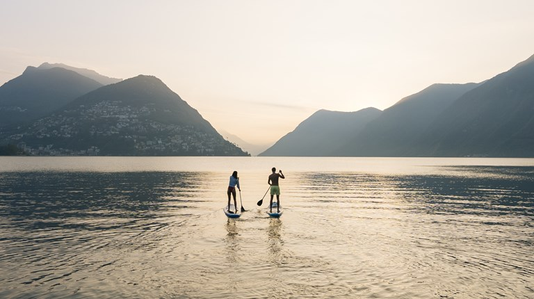 Sport and leisure, Stand up paddle on Lake Lugano