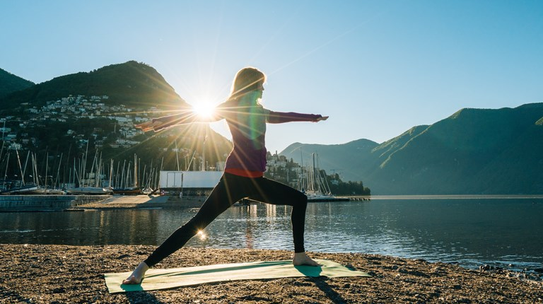 Sport and leisure, Yoga at the lake