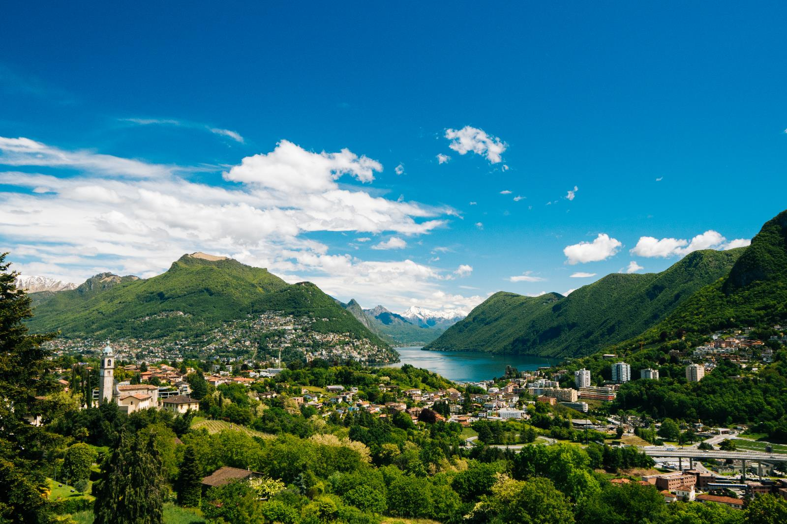 Villages and countryside, View of Lugano from Collina d'Oro