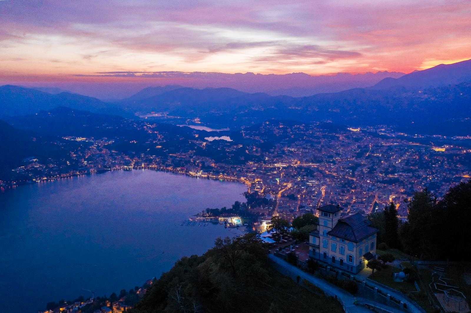 Clubbing and nightlife, View of Lugano by night