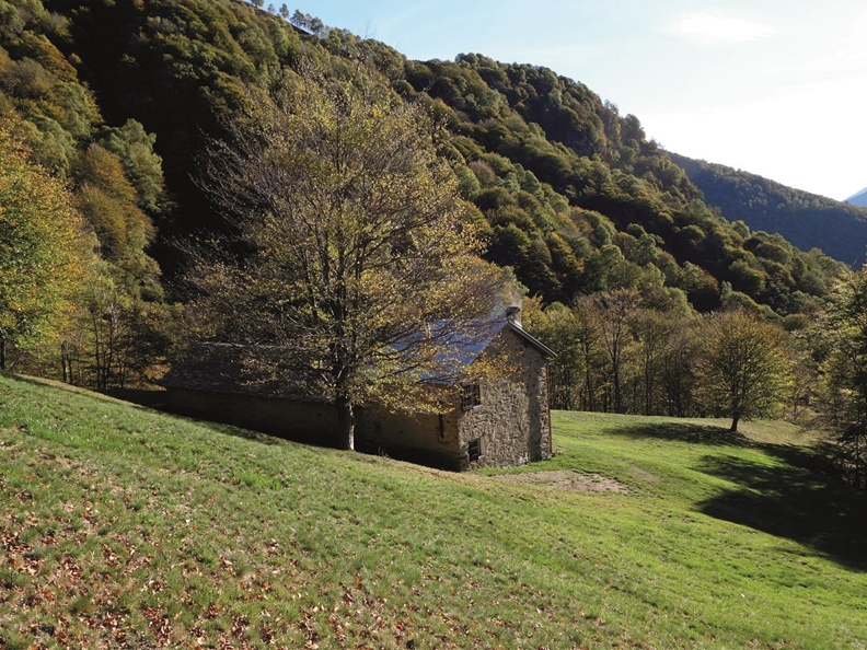 Monte Lema on the way of alpine pastures